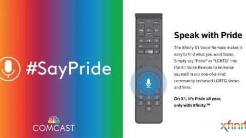 #SayPride in X1 voice remote
