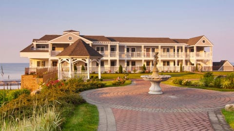 Exterior of the Water's Edge Resort & Spa in Westbrook, Connecticut.
