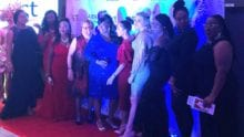 Sandy Weicher and others on a red carpet